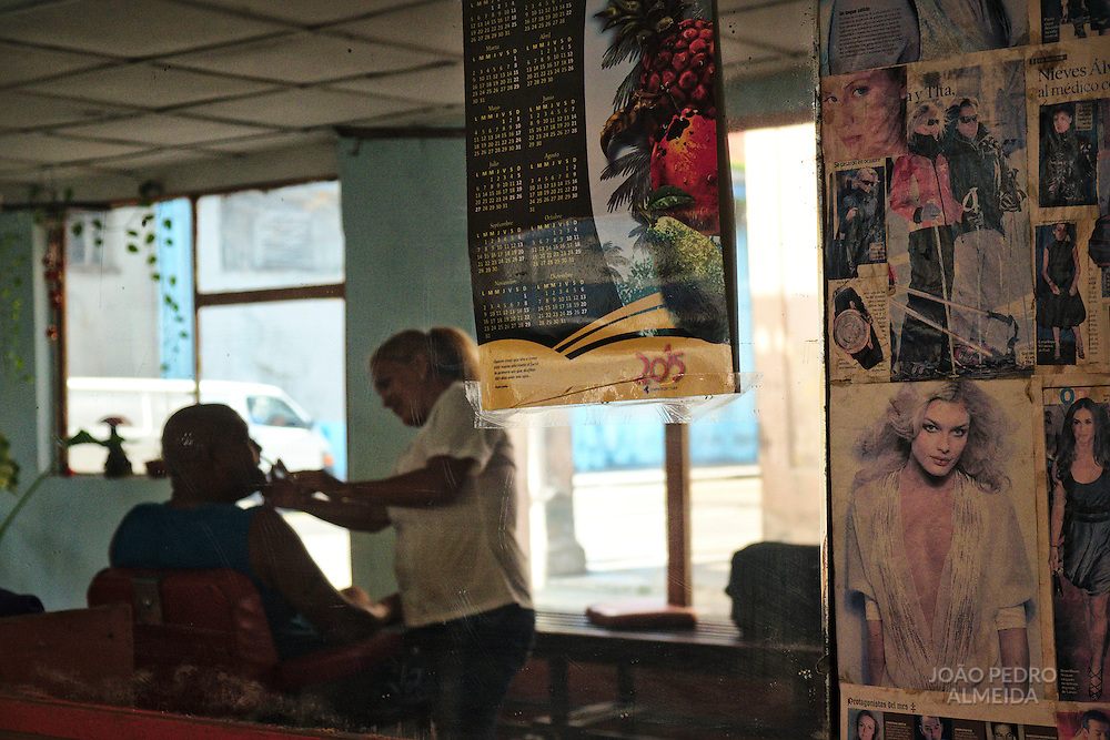 A old barber shop in Puentes Grandes