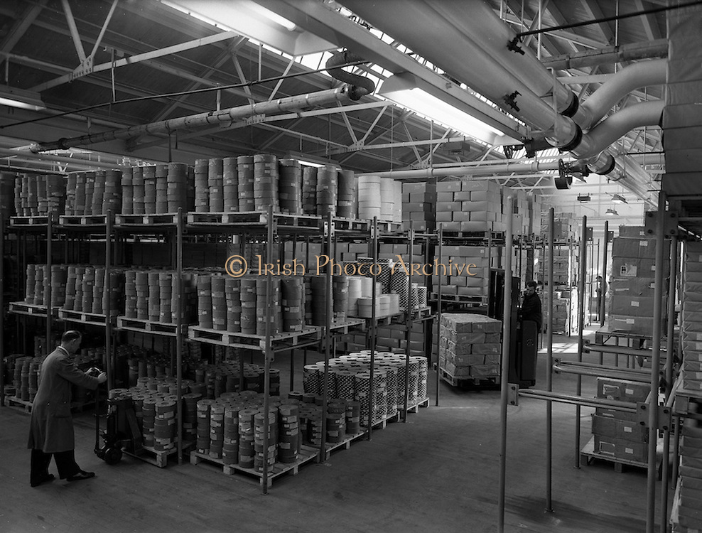 09/03/1961<br /> 03/09/1961<br /> 09 March 1961<br /> Interiors of W.D. & H. O Wills tobacco Factory at South Circular Road, Dublin.