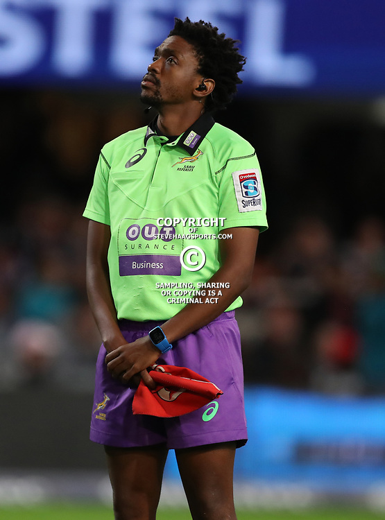 DURBAN, SOUTH AFRICA - MAY 27: Assistant Referee: Archie Sehlako (South Africa) during the Super Rugby match between Cell C Sharks and DHL Stormers at Growthpoint Kings Park on May 27, 2017 in Durban, South Africa. (Photo by Steve Haag/Gallo Images)