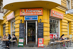Traditional corner shop and cafe in Kreuzberg Berlin Germany