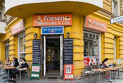 Traditional corner shop and cafe in Kreuzberg Berlin Germany