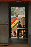 Ghana, Accra, 2007. Before Independence Day, schools unable to march in the center of Accra held their own celebrations.