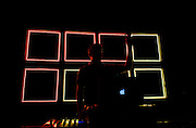 Steve Reidell, one half of Chicago-based production/mash-up duo Hood Internet, performed a DJ set at the Firebird in St. Louis, Missouri on May 15th, 2013 while on tour with Black Moth Super Rainbow.