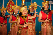 Luang Prabang, Laos. Folk dancers at the National Theater.