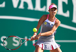 Romania's Mihaela Buzarnescu in action during her quarter final against Ukraine's Elina Svitolina during day five of the Nature Valley Classic at Edgbaston Priory, Birmingham.