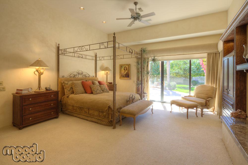 Canopy bed in luxury villa