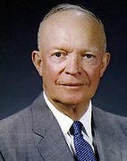 Dwight David 'Ike' Eisenhower (1890-1969) American soldier and 34th President of the United States 1953-1961. In Second World War served as Supreme Command of Allied forces in Europe.