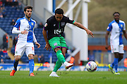Bristol City midfielder, Korey Smith (7) strikes during the Sky Bet Championship match between Blackburn Rovers and Bristol City at Ewood Park, Blackburn, England on 23 April 2016. Photo by Pete Burns.