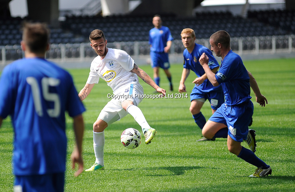 Fabrizio Tavano in action for Auckland City during the ASB Football Premiership, Southern v Auckland, 25 October 2014, Forsyth Barr Stadium Dunedin,  New Zealand. Photo: Richard Hood/photosport.co.nz