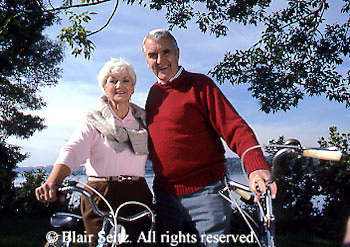 Active Aging Senior Citizens, Retired, Activities, Elderly Couple Outdoor Recreation, Staying Fit, Enjoying Nature Elderly Couple Bicycles in Countryside, Staying Fit, Staying Young