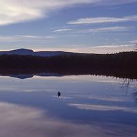 Sunrise over Tupper Lake in New York's Adirondack Park