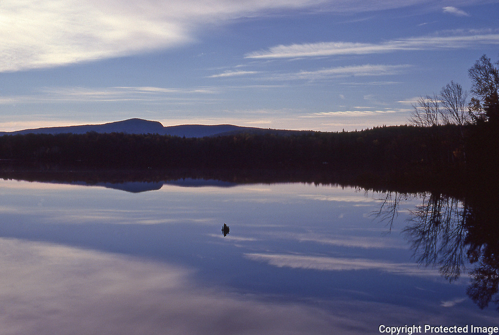 Sunrise over Tupper Lake in New York's Adirondack Park