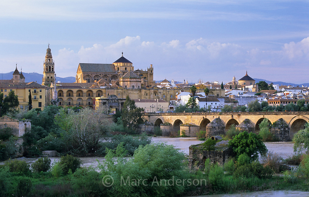 View of Cordoba across the Guadalquivir River, Spain