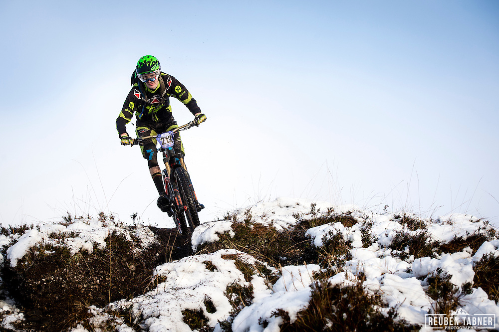 Ian Taylor drops in on stage three of the Kinlochleven Enduro.