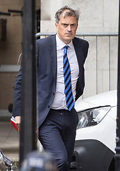 © Licensed to London News Pictures. 09/09/2019. London, UK. Northern Ireland Secretary Julian Smith arrives at Parliament. The government have announced that Parliament will be prorogued at the end of business today. Photo credit: Peter Macdiarmid/LNP