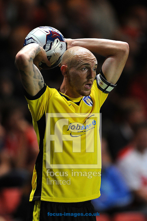 Sean Clohessy of Colchester United during the Capital One Cup match at The Valley, London<br /> Picture by Richard Blaxall/Focus Images Ltd +44 7853 364624<br /> 12/08/2014