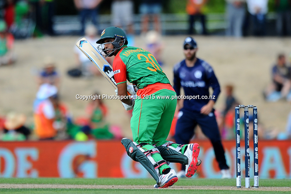 Bangladesh player Mohammad Mahmudullah during the 2015 ICC Cricket World Cup match between Bangladesh v Scotland. Saxton Oval, Nelson, New Zealand. Thursday 5 March 2015. Copyright Photo: Chris Symes / www.photosport.co.nz