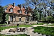 Chateau des Thons, a French castle imported and rebuilt on Long Island in 1927 in Upper Brookville, N.Y.