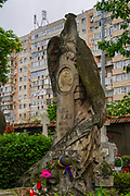elaborate headstone at Serban Voda cemetery (commonly known as Bellu cemetery) is the largest and most famous cemetery in Bucharest, Romania.