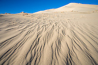 Eureka Sand Dunes with rippled sand in the forground, Eureka Valley of Death Valley National Park, California, USA