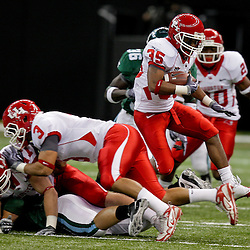 Oct 17, 2009; New Orleans, LA, USA; Houston Cougars wide receiver Tyron Carrier (35) hurdles teammates while returning a kickoff against the Tulane Green Wave during a game at the Louisiana Superdome. Houston defeated Tulane 44-16.   Mandatory Credit: Derick E. Hingle-US PRESSWIRE