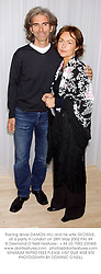 Racing driver DAMON HILL and his wife GEORGIE, at a party in London on 28th May 2002.PAL 69