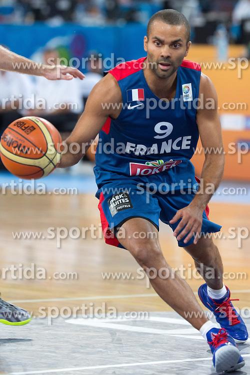 Tony Parker #9 of France during quarterfinal basketball match between national team of Slovenia and France at Eurobasket 2013 on September 18, 2013 in SRC Stozice, Ljubljana, Slovenia. (Photo By Matic Klansek Velej / Sportida.com)