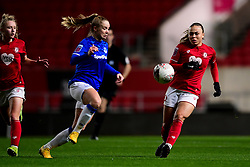 Ebony Salmon of Bristol City marks Kika van Es of Everton Women - Mandatory by-line: Ryan Hiscott/JMP - 17/02/2020 - FOOTBALL - Ashton Gate Stadium - Bristol, England - Bristol City Women v Everton Women - Women's FA Cup fifth round