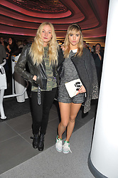 Left to right, LADY CLARA PAGET and SUKI WATERHOUSE at the launch of famed American fitness club 'Equinox' 99 High Street Kensington, London on 23rd October 2012.