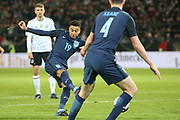 Jess Lingard of England shoots at goal during the International Friendly match between Germany and England at Signal Iduna Park, Dortmund, Germany on 22 March 2017. Photo by Phil Duncan.