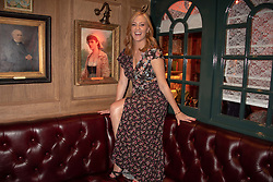 Sarah Jane Mee at the launch of Mr Fogg's Society of Exploration, 1a Bedford Street, London,  England. 13 September 2018.