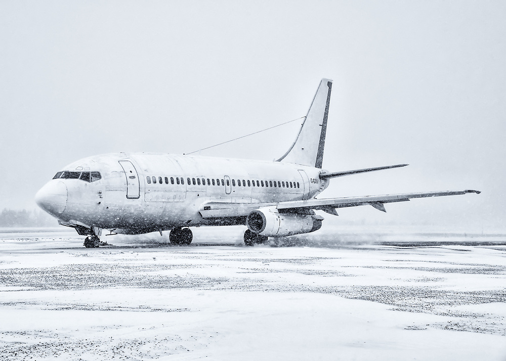 Air North, Yukon's Airline's Boeing 737-200 makes its final departure from Erik Nielsen Whitehorse International Airport