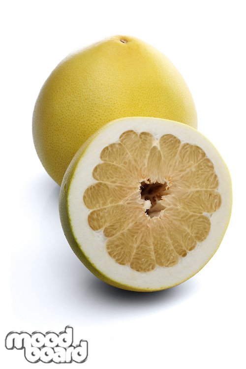 Grapefruits on white background - close-up