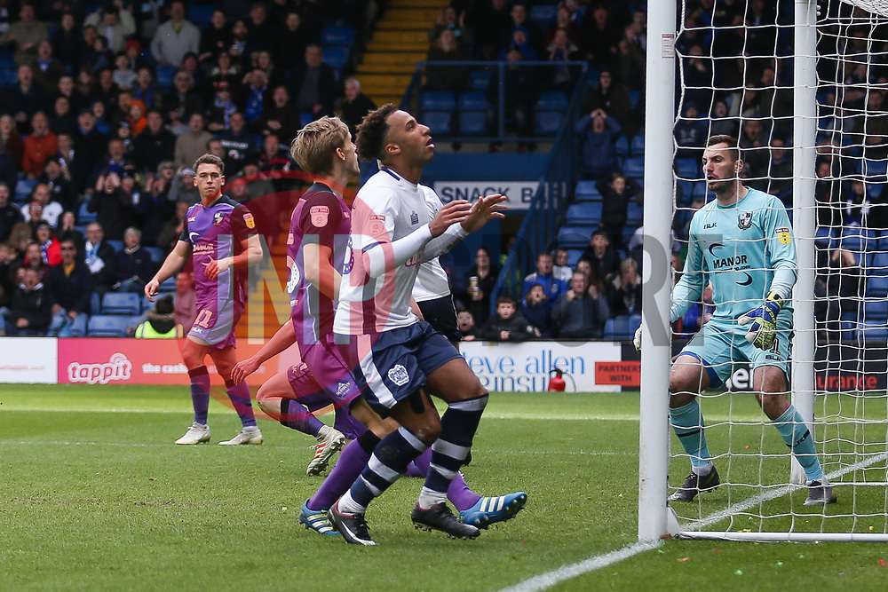 Nicky Maynard of Bury blazes a shot high over the crossbar - Mandatory by-line: JMP - 04/05/2019 - FOOTBALL - Gigg Lane - Bury, England - Bury v Port Vale - Sky Bet League Two