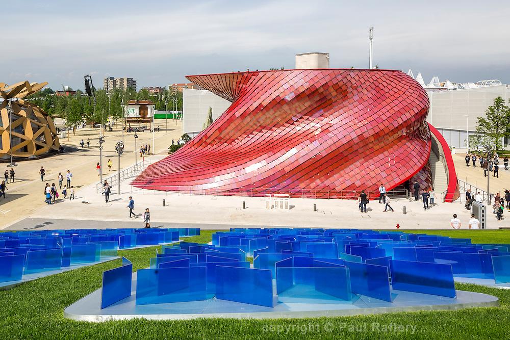 Venke pavilion Expo 20015 Malin. Architect Daniel Liebskind