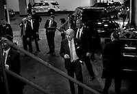 ROCKVILLE, MD - MARCH 13:  Surrounded by Secret Service and staff,  Vice President Joe Biden unloads from his motorcade before delivering a speech to lawmakers, woman against violence advocates, and constituents concerning reducing domestic violence homicides, in Rockville, Maryland, on Wednesday, March 13, 2013. (Photo by Melina Mara/The Washington Post)