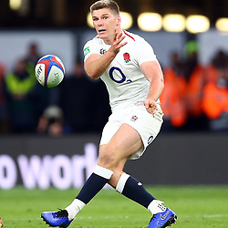 LONDON, ENGLAND - NOVEMBER 03: Owen Farrell (co-captain) of England during the Castle Lager Outgoing Tour match between England and South Africa at Twickenham Stadium on November 03, 2018 in London, England. (Photo by Steve Haag/Gallo Images)