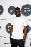 Stormzy attends the media room during the 2019 Hyundai Mercury Prize Launch, Eventim Apollo, London, UK, Saturday 06 July 2019<br /> Photo JM Enternational