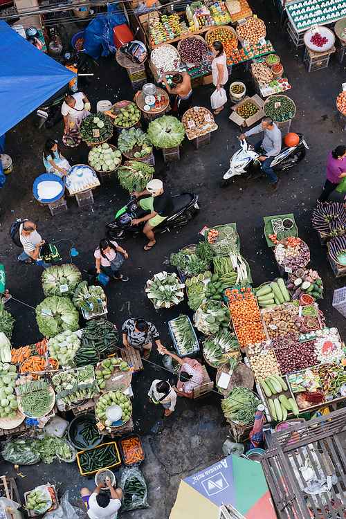 Vendors sell a variety of items at the Quiapo Market in Manila, Philippines. One of the larger markets in Manila, the Quiapo Market  has vendors lining the streets surrounding the Quiapo Church, selling everything from produce and street food to pets and religious items.