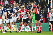 Southampton midfielder Mario Lamina (18) scores a goal and celebrates 1-1 during the Premier League match between West Bromwich Albion and Southampton at The Hawthorns, West Bromwich, England on 3 February 2018. Picture by Dennis Goodwin.