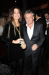 Carlos Almada and Cecile Baird at a party to celebrate the 10th anniversary of the Myla lingerie brand held at Almada, 17 Berkeley Street, London on 17th November 2010.