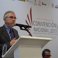 Toluca, México.- (Marzo 24, 2017).- Paul Krugman, Premio Nobel de Economía 2008, participo en la Convención Nacional 2017 de CANACINTRA, en donde expresó que una economía como México debe tomar ventaja de otras economías, a pesar de las complicaciones exteriores. Agencia MVT /  José Hernández.