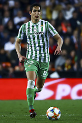 February 28, 2019 - Valencia, Spain - Mandi  of Real Betis Balompi During Spanish King La Copa match between  Valencia cf vs Real Betis Balompie Second leg  at Mestalla Stadium on February 28, 2019. (Photo by Jose Miguel Fernandez/NurPhoto) (Credit Image: © Jose Miguel Fernandez/NurPhoto via ZUMA Press)