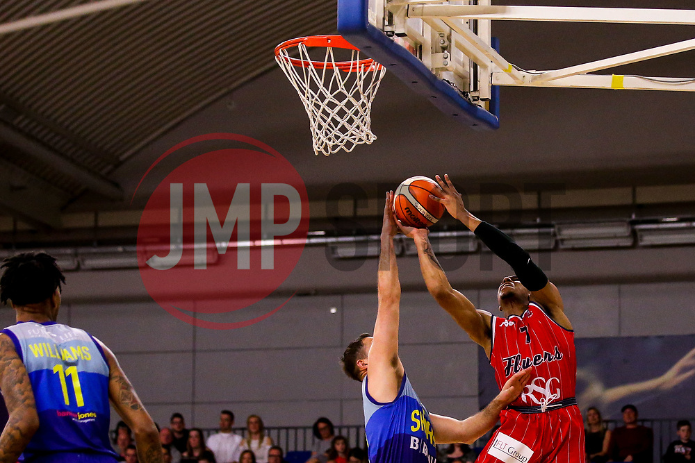 Justin Gray of Bristol Flyers reaches for the basket - Photo mandatory by-line: Robbie Stephenson/JMP - 29/03/2019 - BASKETBALL - English Institute of Sport - Sheffield, England - Sheffield Sharks v Bristol Flyers - British Basketball League Championship