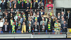 Norwich Chairman and Directors, Middlesbrough v Norwich, Sky Bet Championship, Play Off Final, Wembley Stadium, Monday  25th May 2015