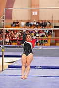January 17, 2010; Stanford, CA, USA; Stanford Cardinal gymnast Nicole Pechanec performs on the bars during the meet against the Arizona Wildcats at Burnham Pavilion. The Cardinal defeated the Wildcats 196.025-194.675. Mandatory Credit: Kyle Terada-Terada Photo