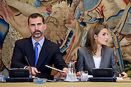 121113 Spanish Royals attend Meeting of the Board of the Prince of Girona Foundation