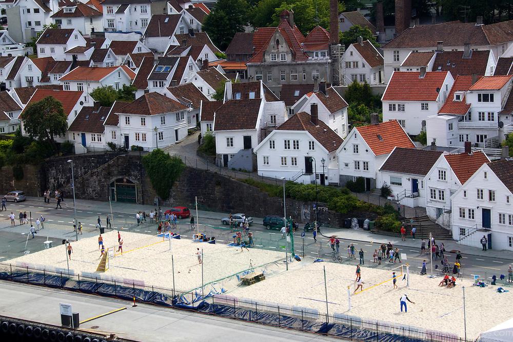 Europe, Norway, Stavanger. FIVB Beach Volleyball Grand Slam Event in Stavanger.