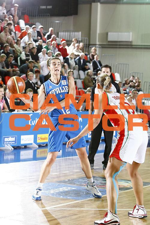DESCRIZIONE : Valmiera Latvia Lettonia Eurobasket Women 2009 Italia Bielorussia Italy Belarus<br /> GIOCATORE : Raffaella Masciadri<br /> SQUADRA : Italia Italy<br /> EVENTO : Eurobasket Women 2009 Campionati Europei Donne 2009 <br /> GARA :  Italia Bielorussia Italy Belarus<br /> DATA : 09/06/2009 <br /> CATEGORIA : passaggio<br /> SPORT : Pallacanestro <br /> AUTORE : Agenzia Ciamillo-Castoria/E.Castoria