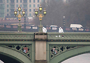 UNITED KINGDOM, London: 23 March 2017 Forensic officers search Westminster Bridge on the morning after a terror attack which killed four people including the attacker in Westminster yesterday. Rick Findler / Story Picture Agency